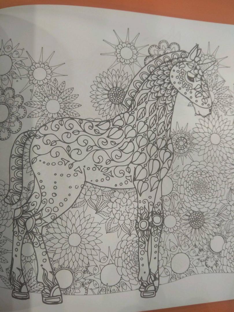 Иллюстрация 15 из 42 для Единороги. Раскраска-антистресс ...