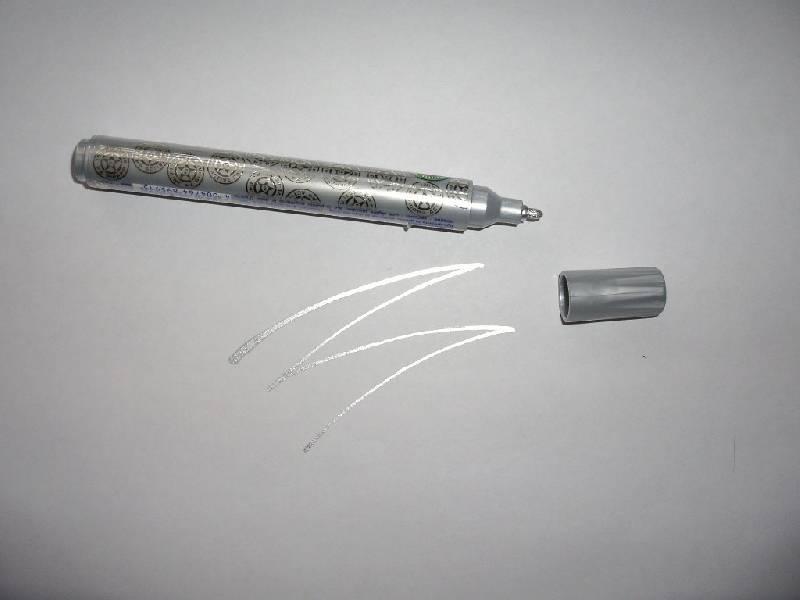 Иллюстрация 1 из 4 для Маркер лаковый круглый 1-2мм 74 серебро | Лабиринт - игрушки. Источник: Tiger.