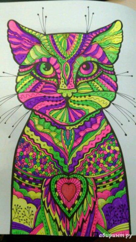 Иллюстрация 8 из 23 для Cats. Творческая раскраска ...