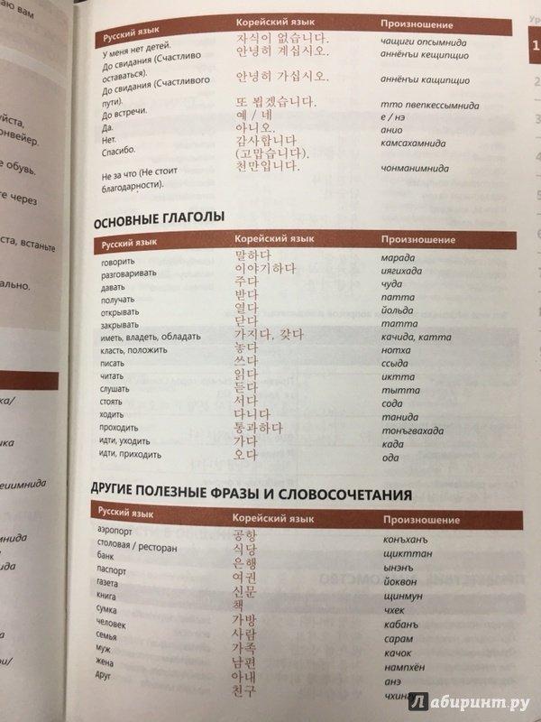 Перевод с картинки с корейского на русский