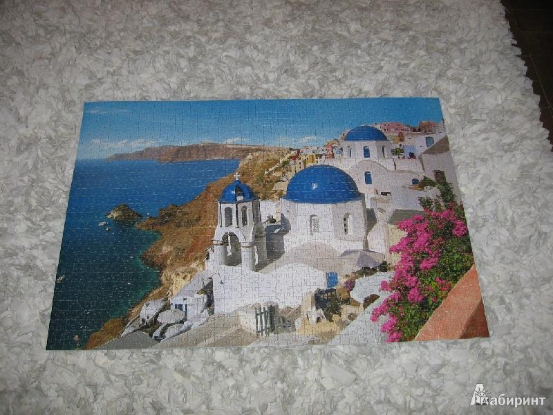 Иллюстрация 1 из 6 для Puzzle-1500. Санторини, Греция (С-150663) | Лабиринт - игрушки. Источник: Лебедева  Елена