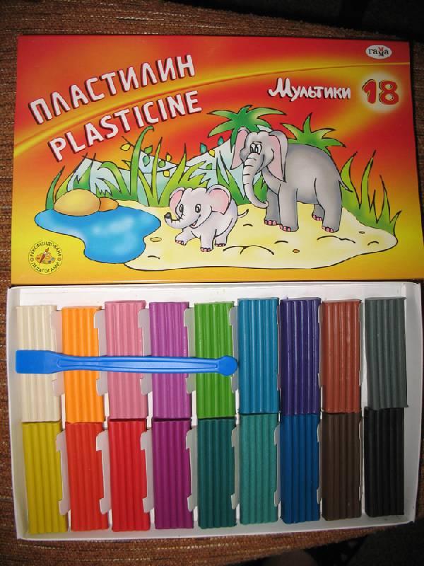 Иллюстрация 22 из 25 для Пластилин Мультики 18 цветов (280028)   Лабиринт - игрушки. Источник: К Л Я К С А