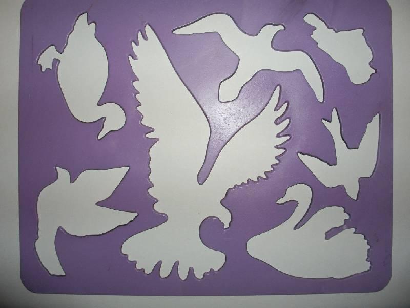 Иллюстрация 1 из 10 для Трафарет пластмассовый. Птицы | Лабиринт - игрушки. Источник: Tiger.