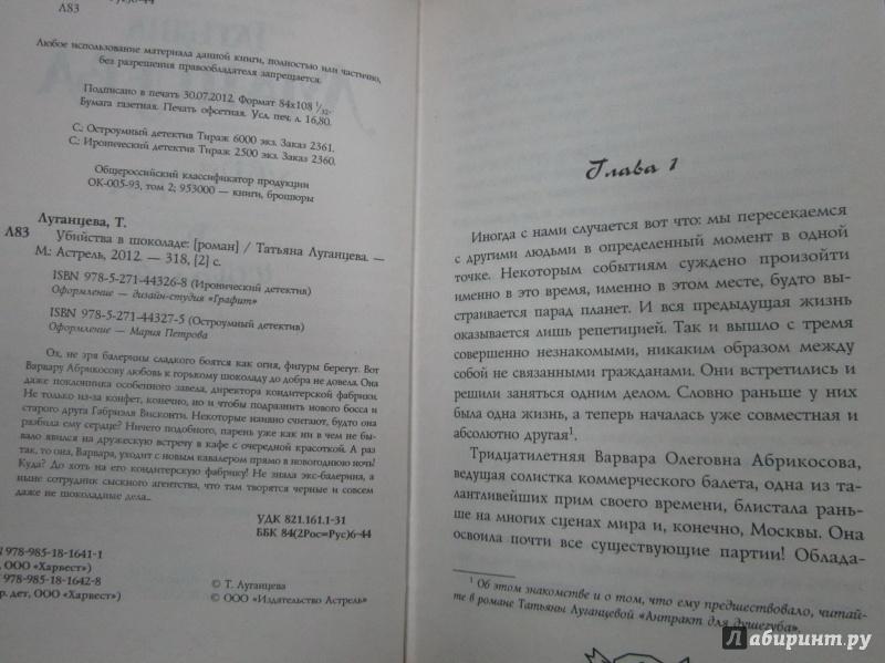 Иллюстрация 3 из 6 для Убийства в шоколаде - Татьяна Луганцева   Лабиринт - книги. Источник: )  Катюша