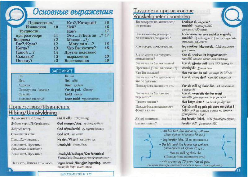 Иллюстрация 4 из 15 для Норвежский разговорник и словарь | Лабиринт - книги. Источник: Юта