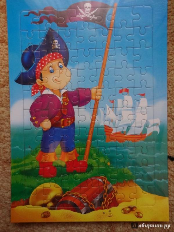 "Иллюстрация 1 из 2 для Развивающие рамки. ""Пират"" (2157) | Лабиринт - игрушки. Источник: Nюша"