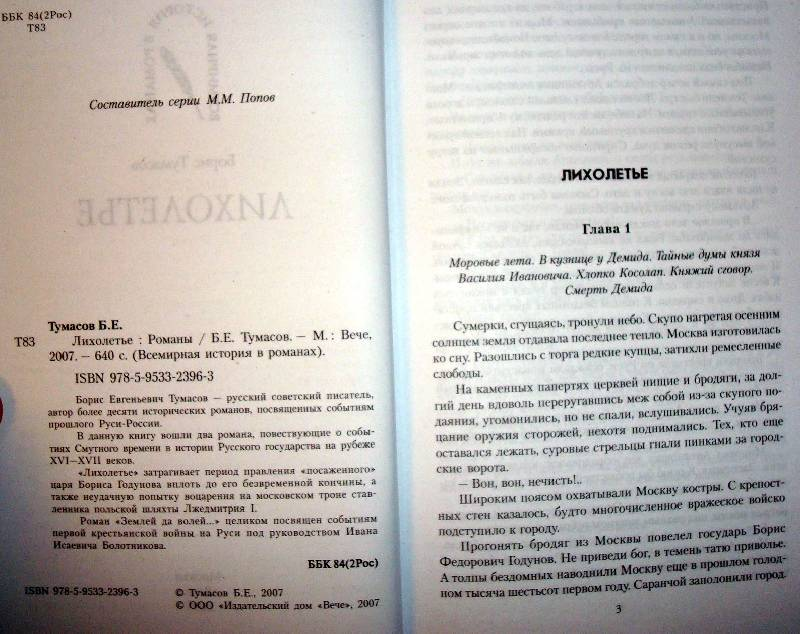 Иллюстрация 1 из 2 для Лихолетье: Романы - Борис Тумасов   Лабиринт - книги. Источник: Мефи
