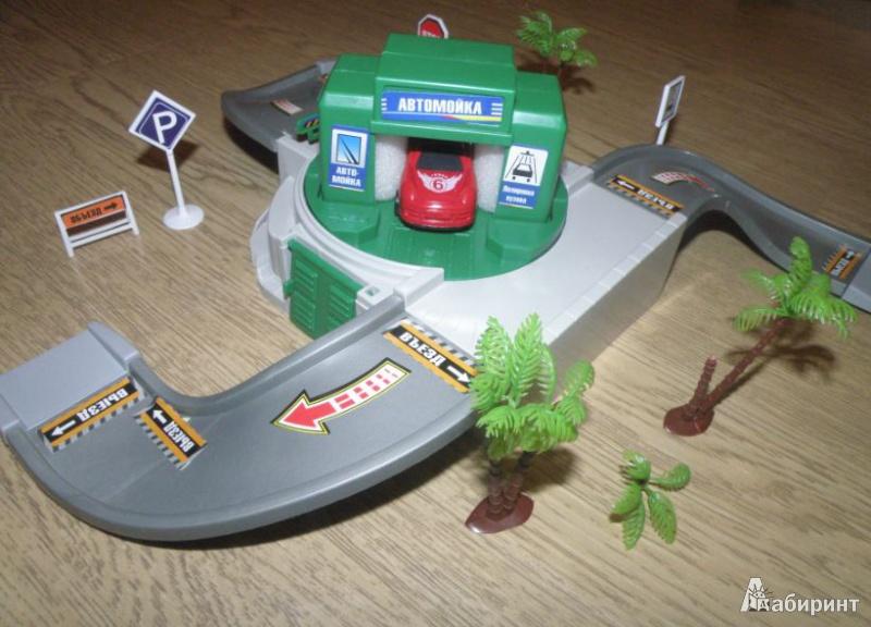 """Иллюстрация 4 из 4 для Паркинг """"Наш город"""". Автомойка, 2 машины (Т52100)   Лабиринт - игрушки. Источник: Темный лес"""