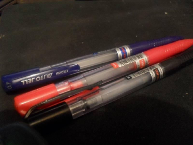 Иллюстрация 1 из 2 для Набор гелевых ручек 3 цвета (AJ-5000R-B/ЧСК) | Лабиринт - канцтовы. Источник: Охотница
