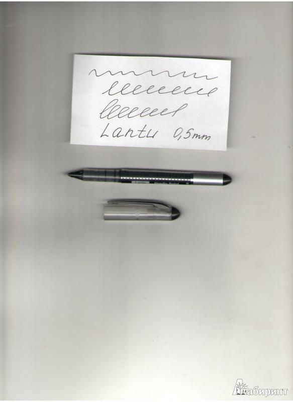 Иллюстрация 1 из 5 для Ручка роллер Lantu (черная)   Лабиринт - канцтовы. Источник: Молчанова  Олеся