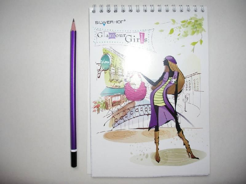 """Иллюстрация 1 из 6 для Блокнот 48 листов """"Гламурные девушки"""" (731024-25)   Лабиринт - канцтовы. Источник: Tiger."""