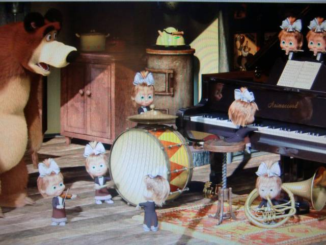 Иллюстрация 1 из 6 для Маша и медведь. Репетиция оркестра (DVD) - Олег Кузовков | Лабиринт - видео. Источник: Лимпи