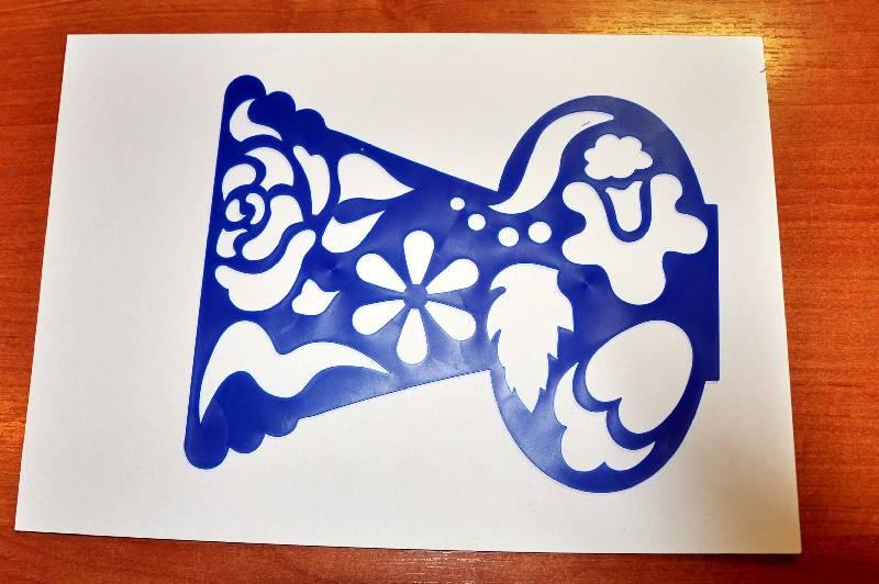 Иллюстрация 8 из 12 для Трафарет фигурный. Ваза с цветами | Лабиринт - игрушки. Источник: Ассоль