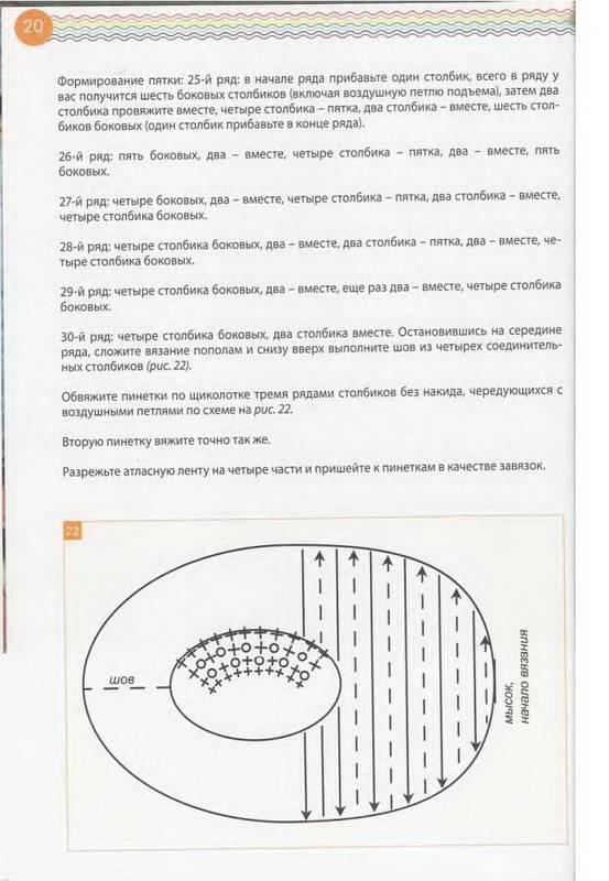 Иллюстрация 35 из 44 для Пинетки, носочки, тапочки: 16 очаровательных моделей, связанных крючком и спицами - Наталья Чичикало | Лабиринт - книги. Источник: Ялина