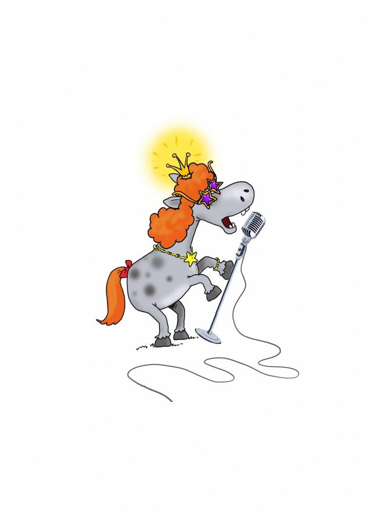 интересна поющая лошадь открытка решением