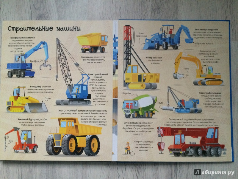 Иллюстрация 4 из 6 для Большая книга о больших машинах. Для детей от 4 лет | Лабиринт - книги. Источник: Румянцева  Светлана