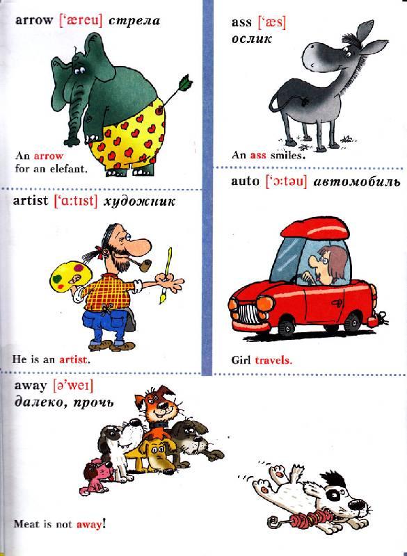 Англо русский словарик в картинках для детей