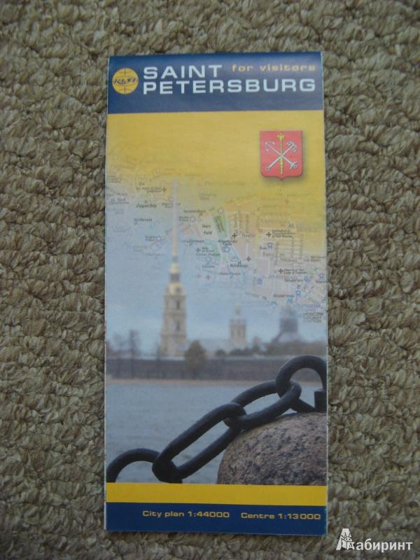 Иллюстрация 1 из 14 для Saint-Petersburg for vizitors. City plan 1:44000, Centre 1:13000   Лабиринт - книги. Источник: Ольга