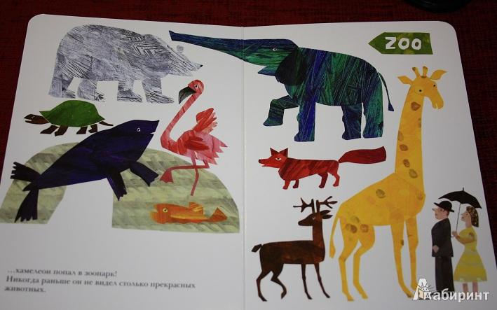 Иллюстрация 6 из 13 для Мечтательный хамелеон - Эрик Карл | Лабиринт - книги. Источник: КНИЖНОЕ ДЕТСТВО