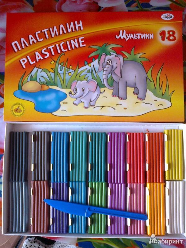Иллюстрация 11 из 25 для Пластилин Мультики 18 цветов (280028) | Лабиринт - игрушки. Источник: zara