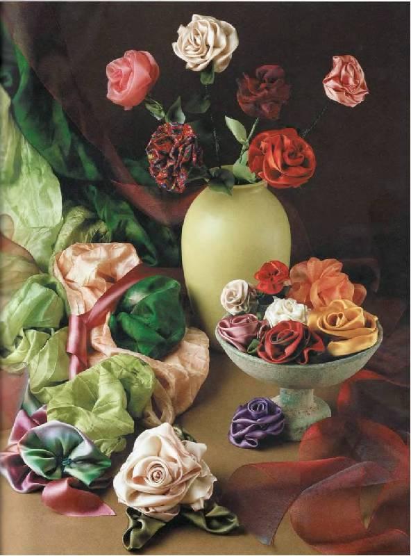 Иллюстрация 22 из 29 для Цветочные фантазии из лент - Дебора Хенри | Лабиринт - книги. Источник: Лана