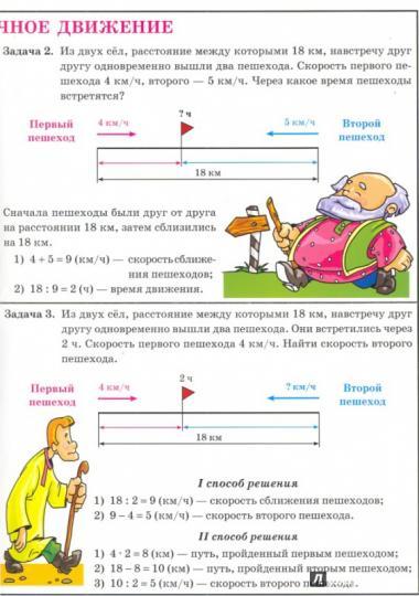 Решение задач на встречное движение 2 класс решение задачи 649