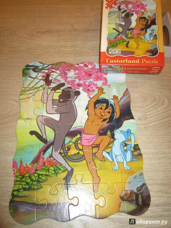 """Иллюстрация 4 из 5 для Puzzle-30 """"Маугли"""" Танцуй со мной 30 деталей (B-PU3142)   Лабиринт - игрушки. Источник: Панченко  Анна"""
