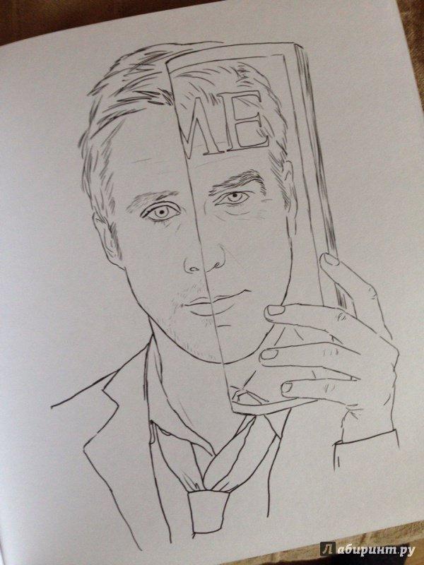 Иллюстрация 4 из 22 для Райан Гослинг. Раскраска для ...