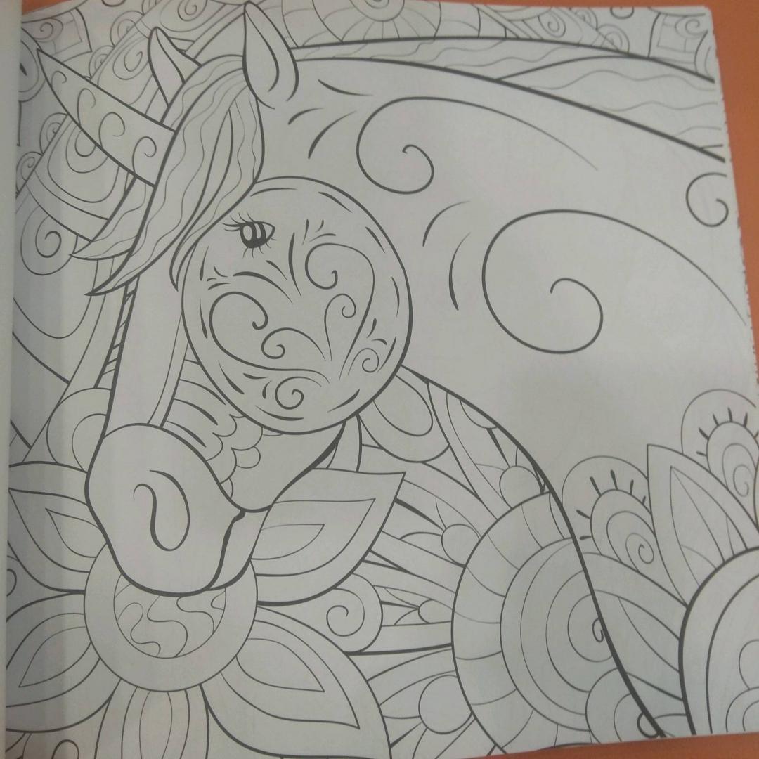 Иллюстрация 12 из 42 для Единороги. Раскраска-антистресс ...