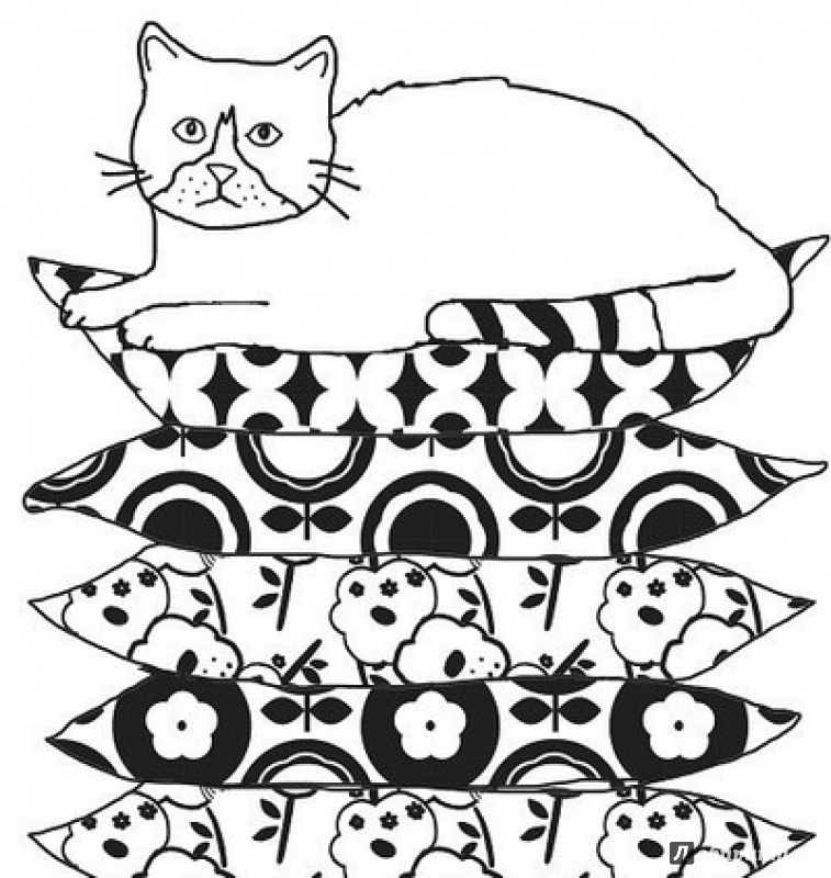 Иллюстрация 6 из 53 для Кототерапия. Раскраска-антистресс ...