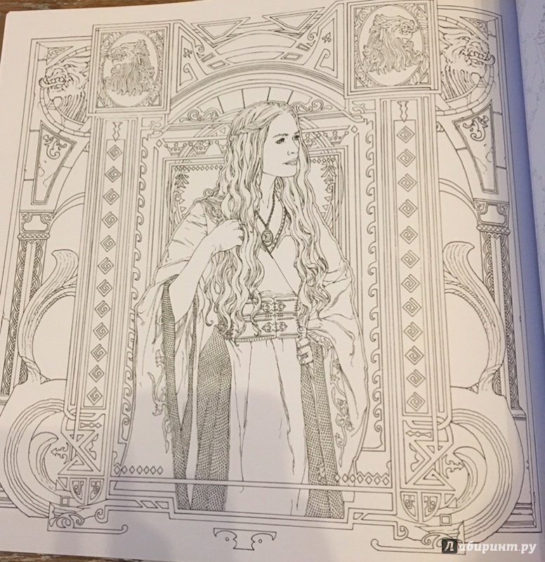 иллюстрация 6 из 18 для игра престолов раскраска лабиринт