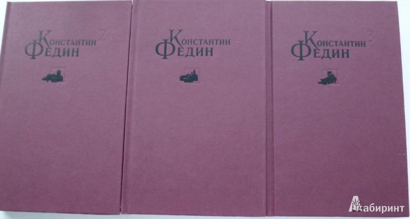 Иллюстрация 2 из 13 для Избранные сочинения в 3-х томах - Константин Федин | Лабиринт - книги. Источник: Большой любитель книг