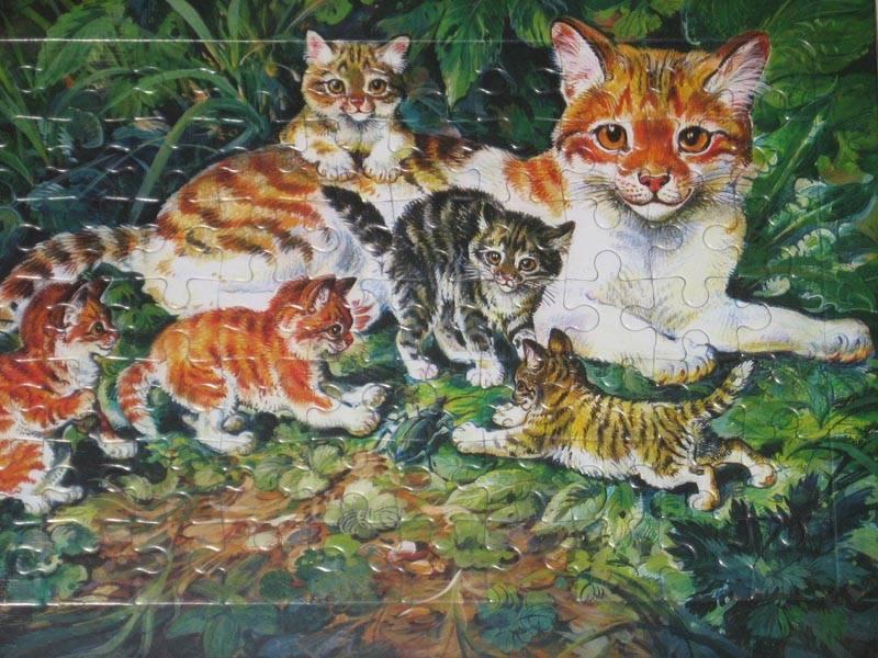 Кошка с котятами картинка ушакова