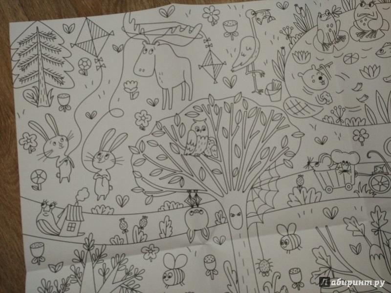 Иллюстрация 6 из 19 для Сказочный лес. Раскраска-плакат ...