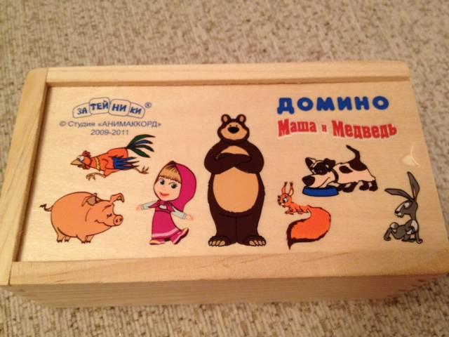 """Иллюстрация 5 из 9 для Домино """"Маша и Медведь"""" (GT5077)   Лабиринт - игрушки. Источник: Алехина  Ксения"""