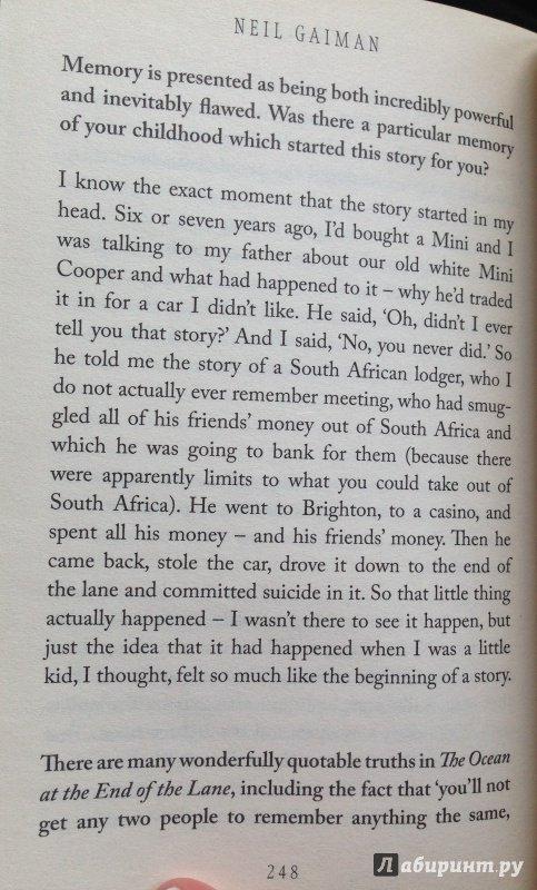 Иллюстрация 17 из 23 для Ocean at the End of the Lane - Neil Gaiman | Лабиринт - книги. Источник: Лабиринт