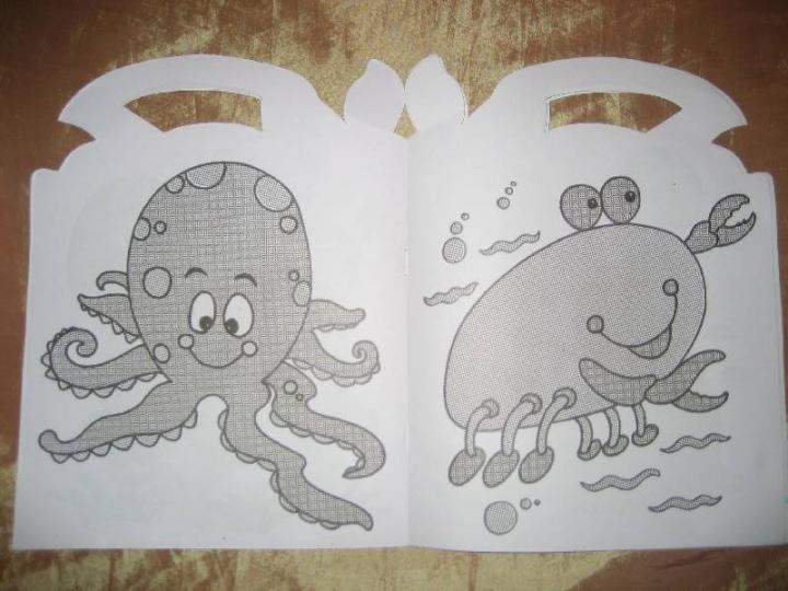 книга жители моря мои волшебные раскраски купить книгу
