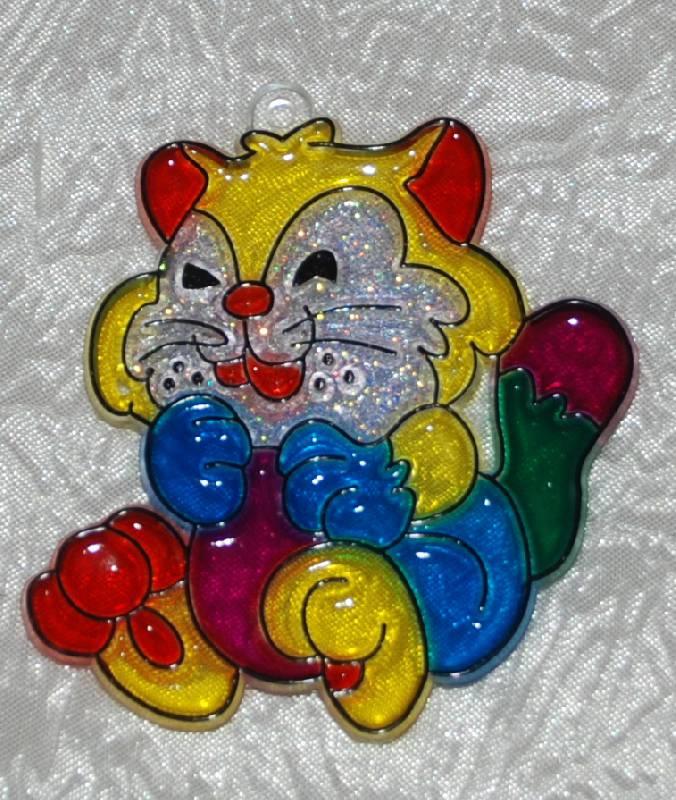Иллюстрация 2 из 2 для Витраж малый: Котенок   Лабиринт - игрушки. Источник: МаRUSя