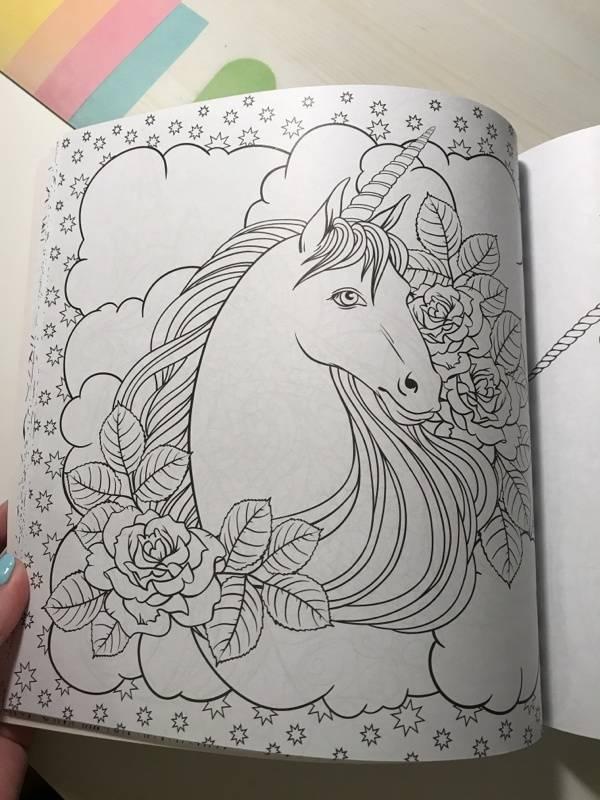 Иллюстрация 25 из 41 для Единороги. Раскраска-антистресс ...