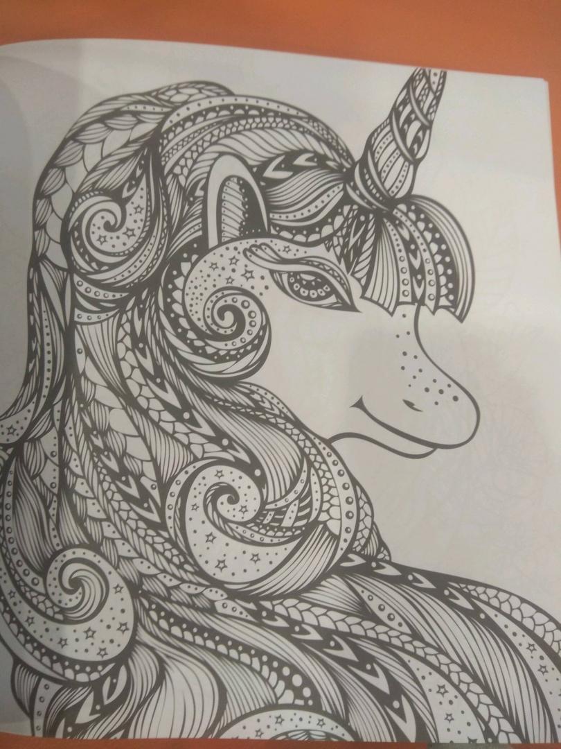 Иллюстрация 14 из 42 для Единороги. Раскраска-антистресс ...