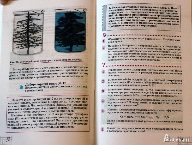 Иллюстрация 23 из 60 для Химия. 9 класс. Учебник. Вертикаль - Олег Габриелян | Лабиринт - книги. Источник: Batterfly