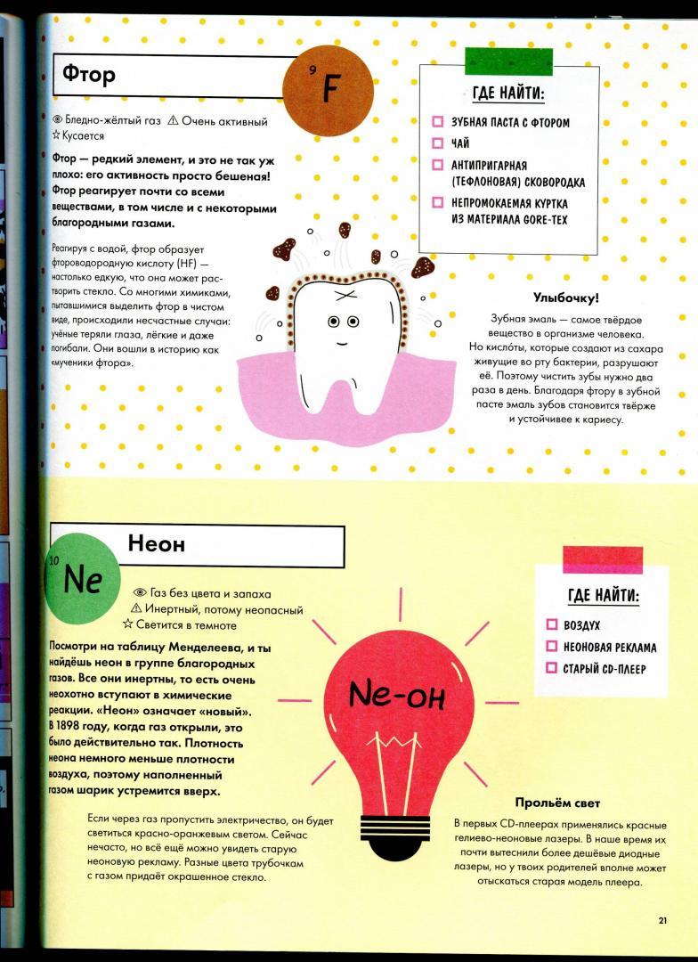 Иллюстрация 21 из 50 для Элементарно! Вся таблица Менделеева у тебя дома - Майк Барфилд | Лабиринт - книги. Источник: Максимова  Екатерина