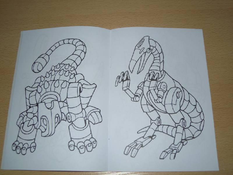 Иллюстрация 4 из 5 для Роботы-динозавры. Раскраска | Лабиринт - книги. Источник: Iwolga