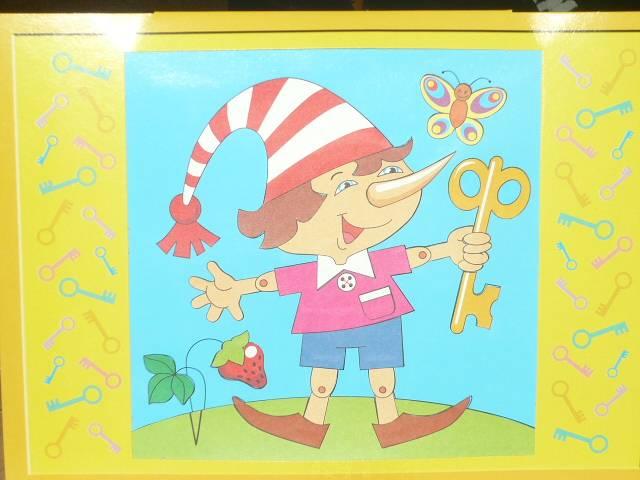 Иллюстрация 6 из 6 для Классическая аппликация. Буратино (01007) | Лабиринт - игрушки. Источник: Ромашка:-)