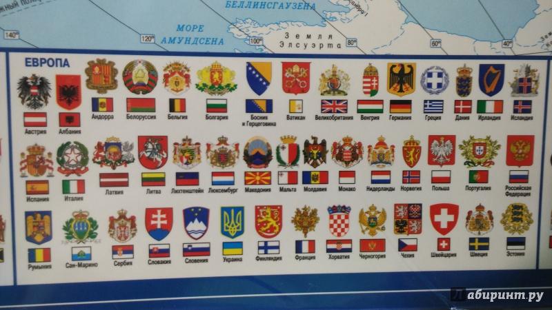 гербы разных стран в картинках и их названия панели