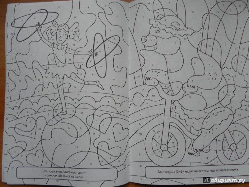 иллюстрация 5 из 6 для раскраска по номерам волшебный цирк
