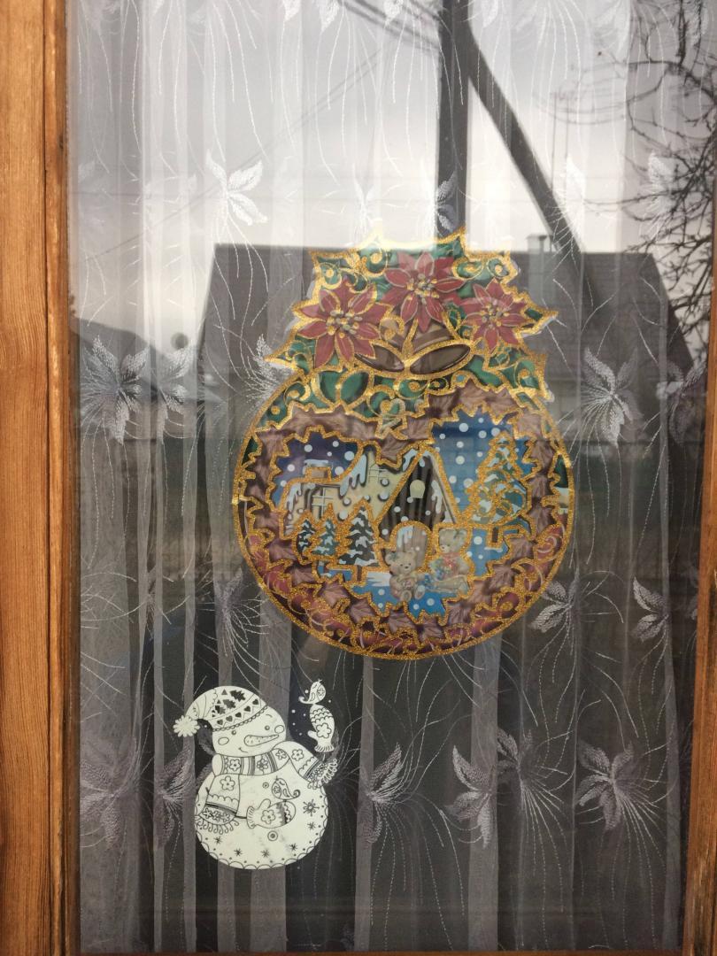 Иллюстрация 2 из 3 для Новогодние наклейки на окна (в ассортименте) (WDGX-3041) | Лабиринт - игрушки. Источник: Лукоянова  Елена Владимировна
