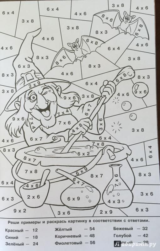 Картинки раскраски таблица умножения