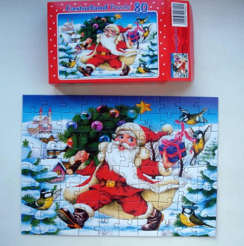 Пазлы новогодняя открытка