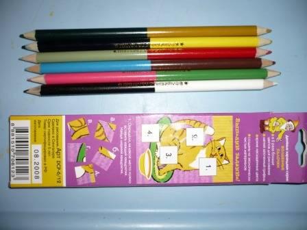 Иллюстрация 1 из 3 для Карандаши двухцветные 6 штук 12 цветов (DCP-6/12)   Лабиринт - канцтовы. Источник: Е.  Анна В.